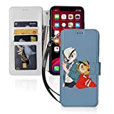 Ho_Odini Va_Noss Ga_Ming iPhone 11 Wallet Case with Card Holder Pu Leather Kickstand Card Slots Case Double Magnetic Clasp