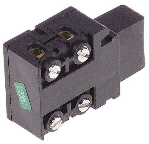 Fimar - Pulsador para FM3, MX40, FX40, MX42S, MX25, FX42S (250 V, 2 polos, conexión roscada FM3, dimensiones de montaje 29 x 29 mm, 16 A)