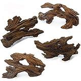 Hamiledyi Aquarium Resin Driftwood Decoration Betta Fish Ornament, Freshwater Ornament - Small Resin...