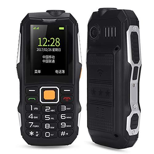 Teléfono móvil U002 para personas de la tercera edad con batería de 5800 mah Dual SIM Dual Standby Teléfono móvil para personas mayores con una linterna fuerte, nivel de sonido de altavoz(EU Plug)