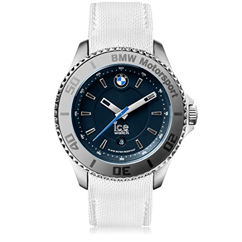 Ice-Watch - BMW Motorsport (steel) White - Men's wristwatch with leather strap - 001116 (Large)