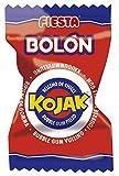 FIESTA Bolón Kojak Caramelo Duro Sabor Cereza Relleno de Chicle - Caja de 150 unidades