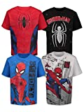 Marvel Spiderman Toddler Boys 4 Pack Graphic T-Shirts 4T