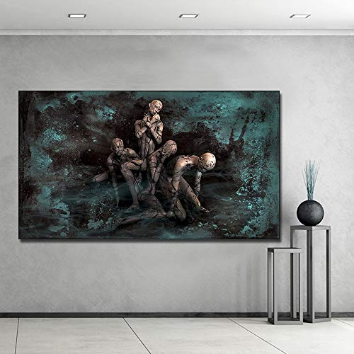 sanzangtang Abstrakte Figur Puppe leinwand malerei plakatdruck auf leinwand abstraktes Bild von Wohnzimmer Dekoration rahmenlose 40x70 cm