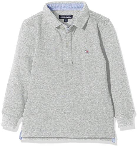 Tommy Hilfiger Jungen AME Tommy Polo L/S Poloshirt, Grau (New Grey Heather B1NAC04 Vol. 46 054), 122 (Herstellergröße: 7)