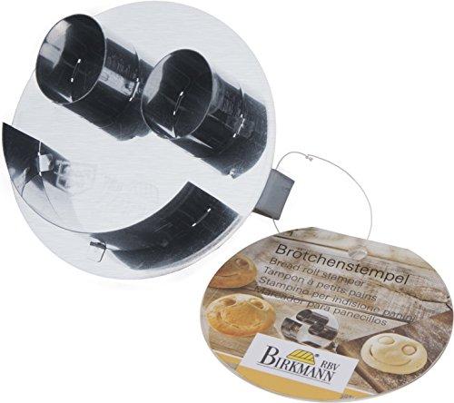 Brötchen - Stempel/Musterstempel SMILEY (Edelstahl / 6 cm) mit Rezept