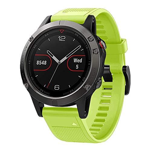 Digit.Tail Correa de repuesto de silicona QuickFit de 22 mm para Garmin Instinct, Fenix 5/5 Plus, Fenix 6, Forerunner 935 945, Quatix 5, Quatix 6, D2 Delta, Approach S60 smartwatch