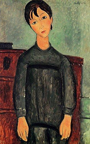 Das Museum Outlet–Modigliani–Mädchen mit einem schwarz Bademantel–Leinwanddruck Online kaufen (152,4x 203,2cm)