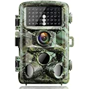 """Campark Trail Game Camera 14MP 1080P Night Vision Waterproof Hunting Scouting Cam for Wildlife Monitoring with 120°Detecting Range Motion Activated 2.4"""" LCD IR LEDs 3 PIR"""