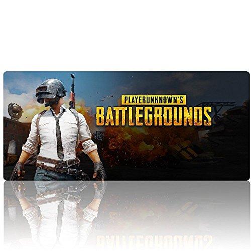 Beyme PUBG Gaming Mauspad, Extended XXL Mauspad Groß Mouse Mat für PLAYERUNKNOWN'S BATTLEGROUNDS- 900x400x2mm (90x40 battlegrounds 004)