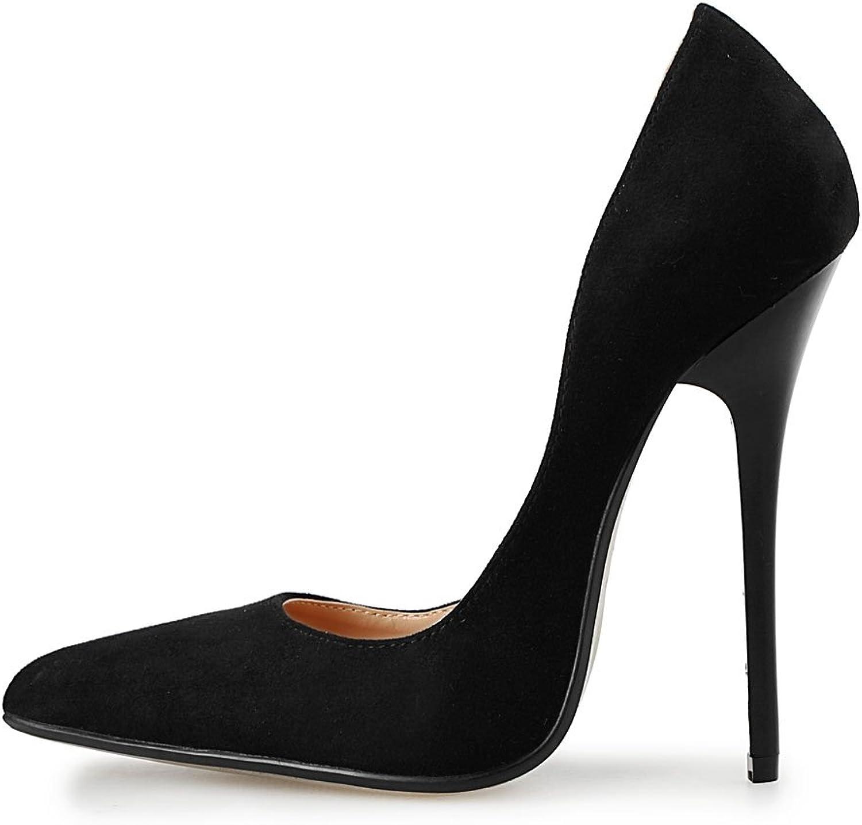 MAIERNISI JESSI Unisex Men's Women's D-Orsay Pointed Toe Stiletto Super High Heels Slip on Pumps