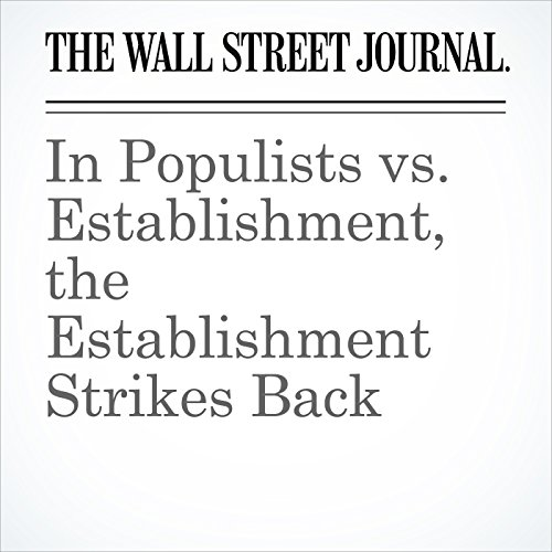 In Populists vs. Establishment, the Establishment Strikes Back copertina