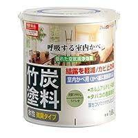 アトムハウスペイント 水性竹炭塗料 1.6L 炭調うぐいす