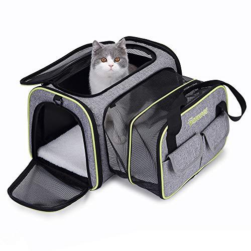 DADYPET Transportin Gato,Transportadoras para Perro,Bolsa de Transporte Transpirable para Mascotas,Cómodo Bolso para Transporte en Tren, Coche, Avión(44 * 23 * 30cm) (44.5 x 44.5 x 28 CM) ⭐