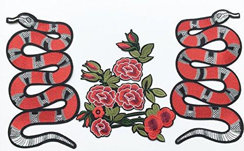 Beyond Schlange Aufnäher Rosen Patches 27 cm p614