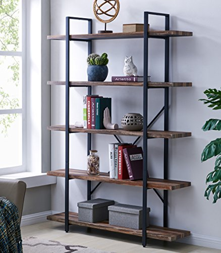 Meangood Floating Shelves Wall Mounted Set of 2, Rustic Wood Wall Storage Shelves for Bedroom,Living Room,Bathroom, Kitchen Walnut