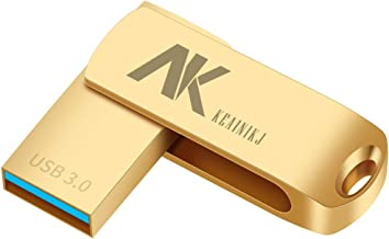 KEAINIKJ 128GB USB 3.0 Flash Drives Pen Drive Memory Stick Thumb Drive USB Drives (Gold Flash Drives)