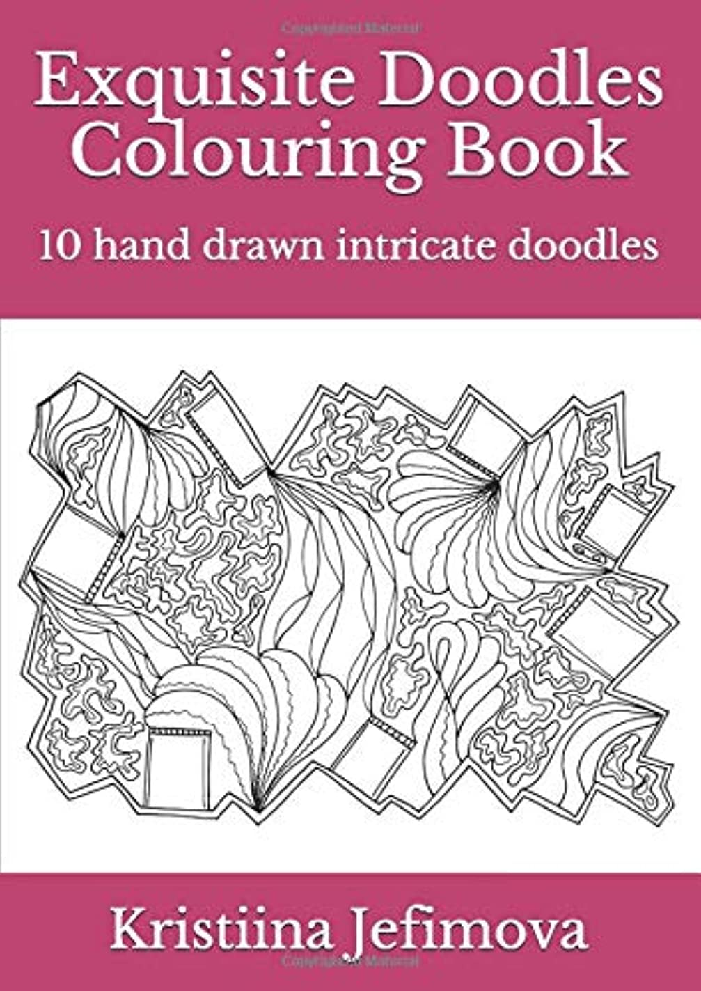 慈善ベンチャー寝室Exquisite Doodles Colouring Book: 10 hand drawn intricate doodles