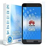 EAZY CASE 3X Bildschirmschutzfolie kompatibel mit Huawei GR5, nur 0,05 mm dick I Bildschirmschutz, Schutzfolie, Bildschirmfolie, Transparent/Kristallklar