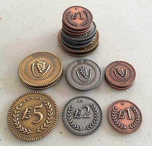 Stonemaier Games Viticulture: Metal Lira Coins