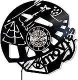 KDBWYC Películas Reloj de Pared de Vinilo Diseño de Cine Exclusivo Regalo de película Amigos Hombre o Mujer Decoración para Sala de Estar Cocina Entrada para Teatro de Hollywood Producción
