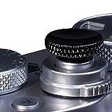 Botón de liberación suave para cámara VKO compatible con Fuji Fujifilm X-T4 X-T30 X-T20 X-T3 X-T2 X-PRO3 X-PRO2 X100S X100T X100F X30 X-E3 Sony RX1R RX10 II III IV Leica M10 negro (2 unidades)