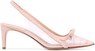 Luxury Fashion   Red Valentino Women TQ2S0C04WQVN17 Pink Leather Heels   Spring-summer 20