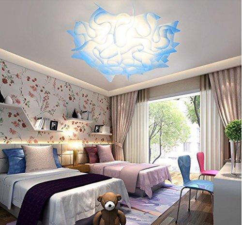 Lily's-uk Love Plafonnier Lumière Lumière Moderne Simple Forme Créative Fleur Led Couleur Changement Romantique Romantique Salle De Mariage Lumières Lumière pour chambre d'enfants - Bleu