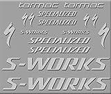 Ecoshirt, DS-ER3X-RNRW, Pegatinas S-Works Tarmac Bike R272 Stickers Aufkleber Decals Autocollants Adesivo, Plata