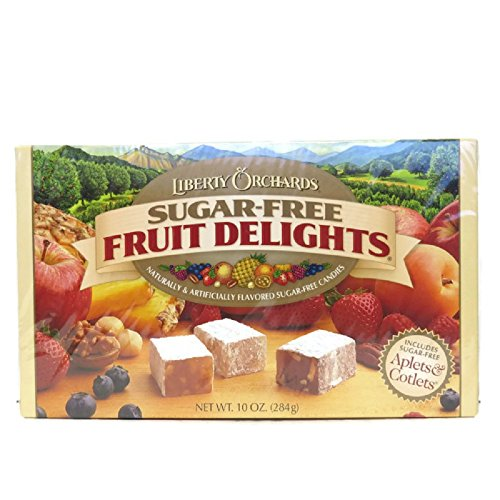 Liberty Orchards Sugar Free Fruit Delights Fruit & Nut Candies, 10 Ounce