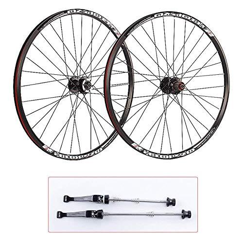 Set di Ruote per Bici da MTB Set di Ruote da 27 5 Pollici per Mountain Bike 26'Tipo di Scheda Freno A Disco MTB Mozzo A Sgancio Rapido Cerchio in Lega di Alluminio 700C,27.5