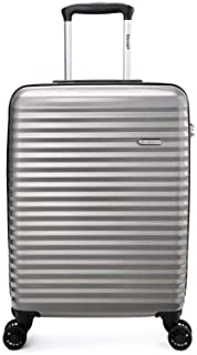 Verage Vortex 55cm Carry On Spinner Suitcase Silver