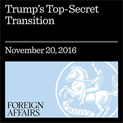 Trump's Top-Secret Transition cover art