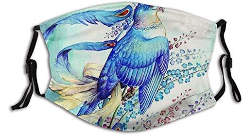 YTYTY Pintura Abstracto Pájaro Águila Ramas Flores Adulto turbante cara cuello polainas pasamontañas, senderismo, ciclismo, escalada en roca