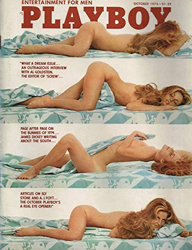 October 1974 Playboy - Sly Stone and A J Foyt and Al Goldstein Single Issue Magazine – October 1, 1974
