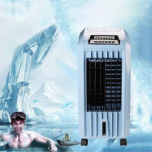 YB&GQ - Enfriador de aire de evaporación silencioso, refrigerador portátil con temporizador, 3 velocidades ajustables ventilador de enfriamiento, ventilador de aire para interior oficina azul