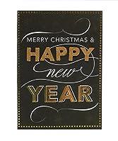 Anna Griffinボックスof 10ブラック/ゴールドHappy New Yearグリーティングカード