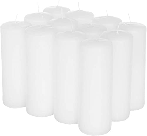 """wholesale Royal Imports Pillar Candles high quality White Unscented Premium Wax, 40 Hours Burning for Wedding, Spa, Party, Birthday, Holiday, Bath, Home Decor - 2""""x6"""" outlet sale Inch - Set of 12 outlet online sale"""