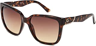 G by Guess Ladies Tortoise Square Sunglasses GG112852F58
