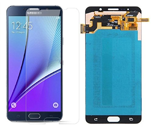 Display Touch Screen for Samsung Galaxy Note 5 Repair Replacement,Free Repair Tools and Screen Protector.(Black/Blue)