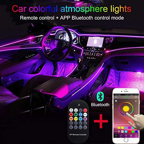 TABEN - Kit de iluminación LED para Interior de Coche con 8...