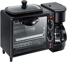 KIJUH Machine à Pain Multifonction 3 en 1 Machine à Petit déjeuner, ménage, Grille-Pain, Four à café