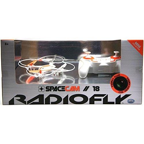 ODS 37966 - Radiofly Space Cam // 18: Drone Radiocomandato, 8 Funzioni, Colori Assortiti: Bianco/Arancione