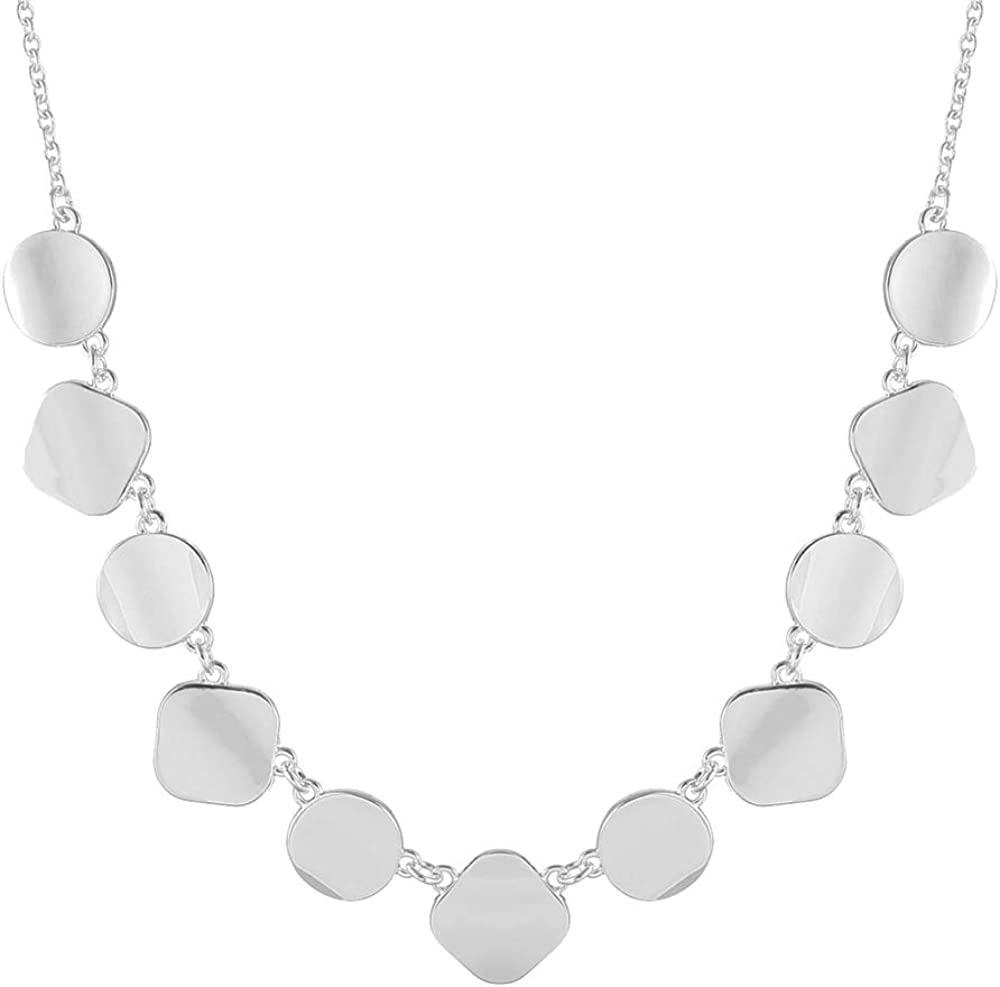 Collar Necklace for Women Polished Alloy Statement Necklace Fashion Jewelry
