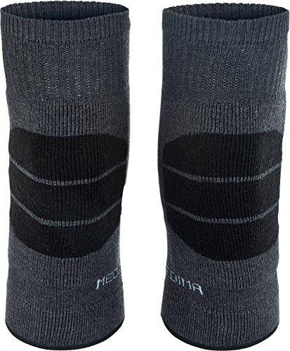 Medima Knie- & Ellenbogenwärmer Wolle Angorawolle grau/schwarz Größe M