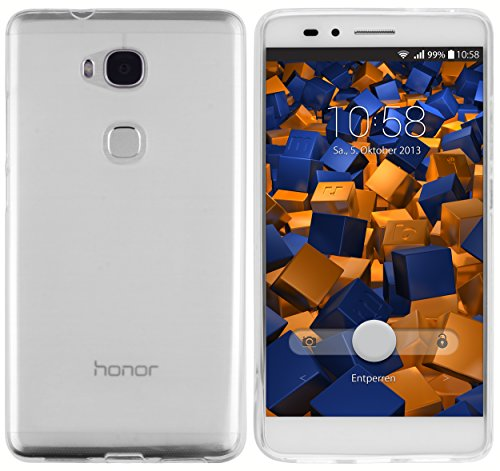 mumbi Hülle kompatibel mit Honor 5X Handy Case Handyhülle, transparent Weiss