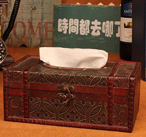 JIE Dekoration Europäischen Stil Versenkbaren Tissue Box Holz Kreative Pumpkartons Hause Cafe Bar Serviette Aufbewahrungsbox,22 * 12 * 9 cm,B
