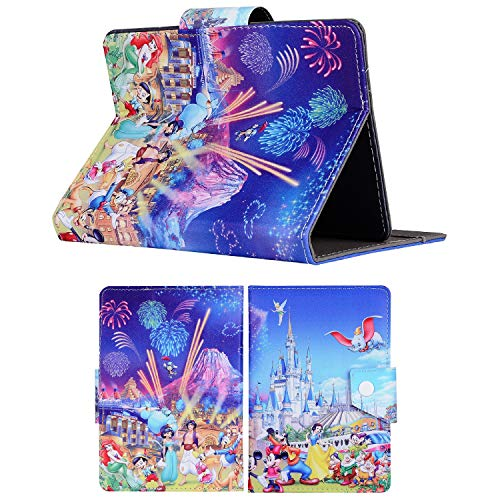 Disney Stand Up Cover 7 7' 8 8' 9.7 9.7' 10.1 inch Tablet Case For Kids Boys & Girls (Universal 9.7' (9.7' Inch), Disney Family Castle)