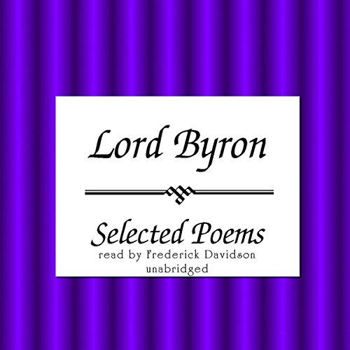 Lord Byron: Selected Poems audiobook cover art