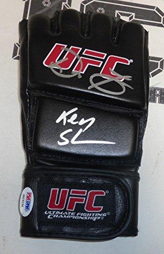 Don Frye & Ken Shamrock Signed UFC Glove PSA/DNA COA 1 3 5 6 7 8 9 10 Pride 19 - Autographed UFC Gloves
